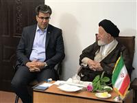 دیدار مدیر شعب استان سمنان با نماینده ی ولی فقیه استان