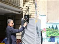 بازدید عضو هیات مدیره بانک مسکن از مدرسه شهید عباس آندی