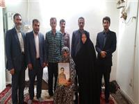 دیدار مسوولین مدیریت اصفهان با خانواده معظم شهدا
