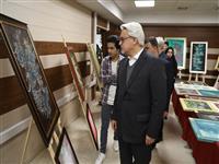 بازدید مدیرعامل بانک مسکن از نمایشگاه نقاشیخط